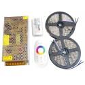 ZESTAW Taśma LED RGBW 10m PREMIUM 600D ZIMNA 5050