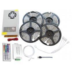 ZESTAW Taśma LED RGB PREMIUM 18m 1080D 5050 Biały