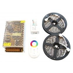 Zestaw Tasma 150 LED RGB 10m Kontroler Pilot DOTYKOWY FUT025 + Zasilacz