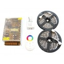 10m Taśma 150 LED RGB Kontroler Pilot FUT025 + Zasilacz