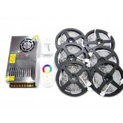 Zestaw Tasma 150 LED RGB 30m Kontroler Pilot DOTYKOWY FUT025 + Zasilacz 250W