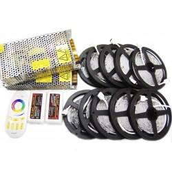 Zestaw Tasma 150 LED RGB 50m Kontroler Pilot DOTYKOWY FUT025 + Zasilacz 300W