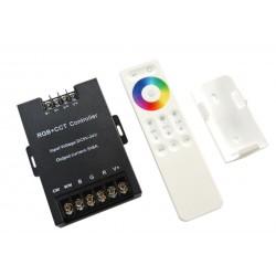 Kontroler RGB+CCT 360W 5x6A + PILOT Radiowy Dotykowy