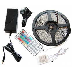10m Taśma 150 LED RGB Kontroler Pilot + Zasilacz