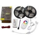 10m Taśmy LED RGB PREMIUM Kontroler Pilot FUT025 Zasilacz