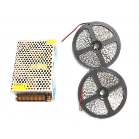 5m Taśma LED 5m 600D PREMIUM Zasilacz