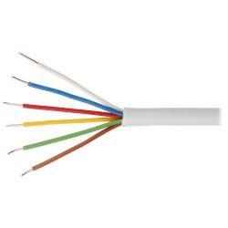 Kabel telefoniczny alarmowy YTDY 6x0,5mm 1m