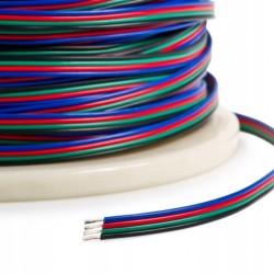 KABEL Przewód RGB Taśma LED 4 żyły ścieżki 4x0,22