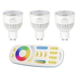 3X Żarówki FUT106 LED RGBCCT GU10 Milight FUT092