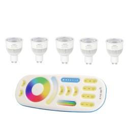 5X Żarówki FUT106 LED RGBCCT GU10 Milight FUT092