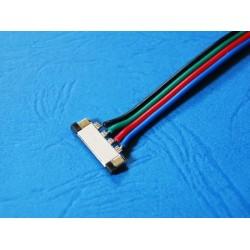SUPER Złączka RGB LED POJEDYNCZA 10mm + Przewód